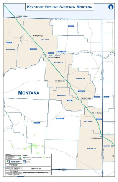 Click to learn more about the Keystone XL Pipeline Montana section
